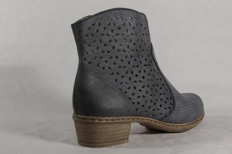 Rieker Y0766 blau Damen Stiefel Stiefelette Stiefel blau Y0766 Reißverschluss NEU ce4586