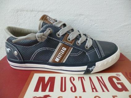 Mustang Slipper Sneakers Halbschuhe Freizeitschuhe blau NEU