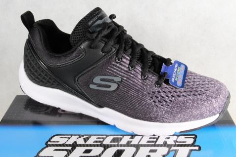 Skechers Schnürschuhe Sneakers Halbschuhe Sportschuhe schwarz grau 52846 NEU!