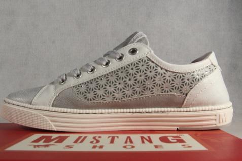 Mustang Schnürschuhe Sneakers Sportschuhe NEU Halbschuhe 1246 grau/ silber NEU Sportschuhe 4dc2c4