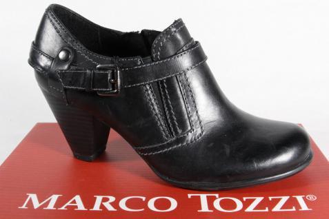 Marco Tozzi Slippers Pumps Leder NEU! schwarz NEU! Leder c34c00