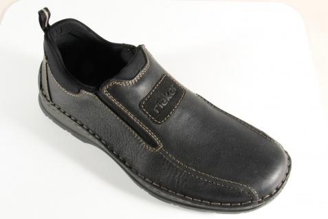 Rieker Herren Slipper Sneakers schwarz Echtleder 05363 NEU - Vorschau 5