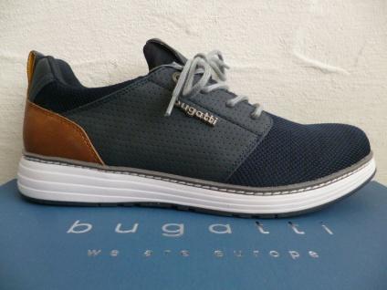 Bugatti Sneakers Sneaker Schnürschuhe Halbschuhe Slipper blau A3C61 NEU!