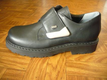 Mega Gaga Jungen Slipper schwarz Leder Schuh Kinderschuh Neu!