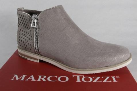 Marco Tozzi Stiefelette, Stiefel, Boots, Schlupfstiefel, grau, NEU
