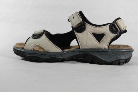 Rieker Damen Sandale, Gummisohle beige, Klettverschluß, weiche Innensohle, Gummisohle Sandale, NEU!! 414e45