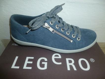 Legero Damen Schnürschuhe Sneakers Halbschuhe Sportschuhe Leder blau 818 NEU!