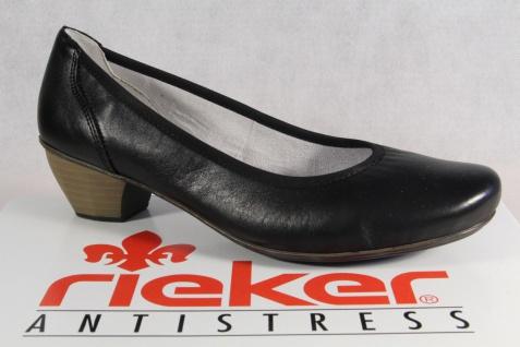 Rieker Pumps Slipper Ballerina Halbschuhe schwarz Echtleder 41770 NEU