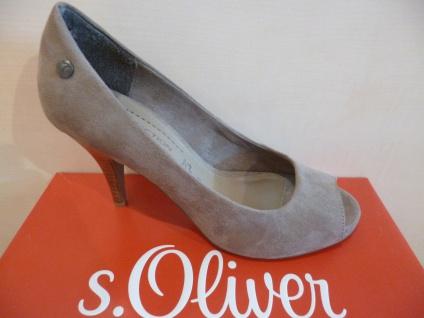 S.Oliver Peep Damen Pumps Slipper Peep S.Oliver Toe pfeffer 29330 NEU! a40584
