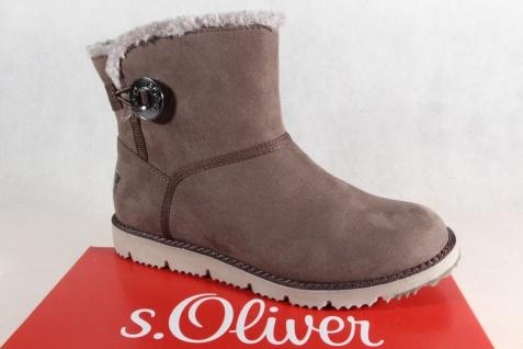 S.Oliver Damen Stiefel, 26412 Stiefelette, Stiefel cigar/ grau 26412 Stiefel, NEU! f9ff59