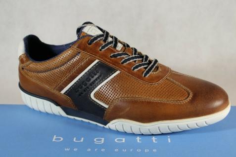 Bugatti Sneakers Halbschuhe Sportschuhe Slipper braun Leder 70801 NEU!