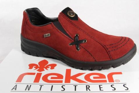 Rieker Tex-Leder Damen Slipper Halbschuhe, Sneakers Tex-Leder Rieker rot NEU! 303f01
