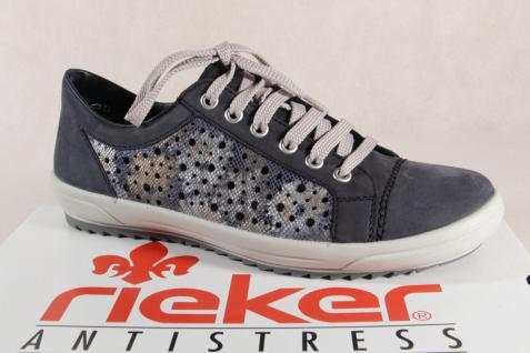Rieker Damen Schnürschuh, Halbschuh, Sneaker, NEU! blau, M6015 NEU! Sneaker, 021144
