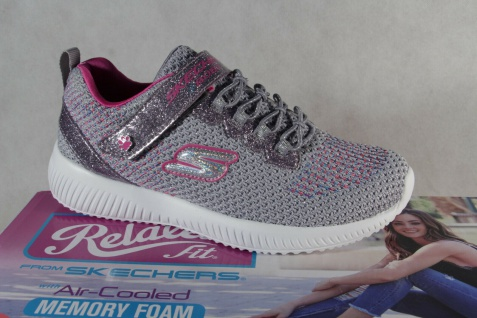 Skechers Mädchen Slipper Sneakers Halbschuhe Sportschuhe grau/pink NEU!