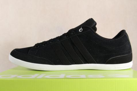 Adidas Schnürschuhe Sneakers Halbschuhe Sportschuhe CAFLAIRE Leder schwarz NEU! - Vorschau 3