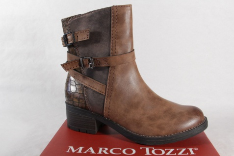 Marco Tozzi 25420 Damen NEU! Stiefel, Stiefelette, Stiefel braun NEU! Damen 294bc2