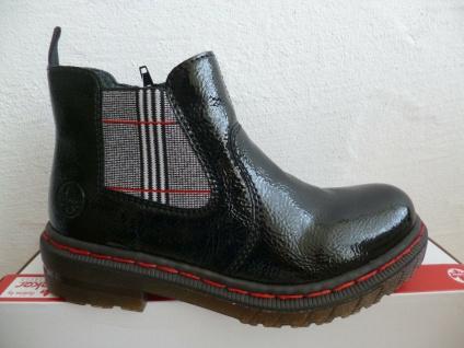Rieker Damen Stiefel Stiefelette Stiefeletten Boots schwarz Lack 76264 NEU! - Vorschau 3
