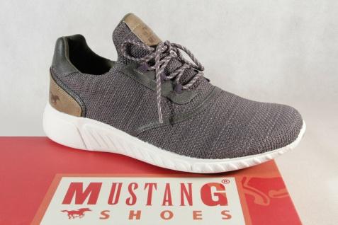 Mustang Slipper Sneakers Sportschuhe Halbschuhe grau Gummisohle 1315 NEU