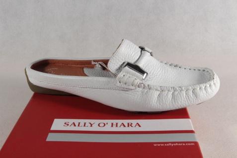 Sally O'Hara Damen Clogs/Sabot Pantolette weiß, echt Leder NEU!!