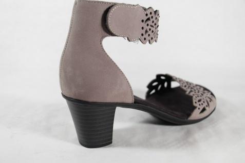 Rieker Sandaletten Damen Sandale Sandalette Sandalen Sandaletten Rieker grau Leder NEU!! 269de6