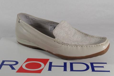 Rohde Damen Slipper Ballerinas Sneaker Sneakers Echtleder beige NEU