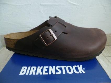 Birkenstock Clogs Boston Pantolette Pantoletten Sabot braun Leder 0860131 Neu!!