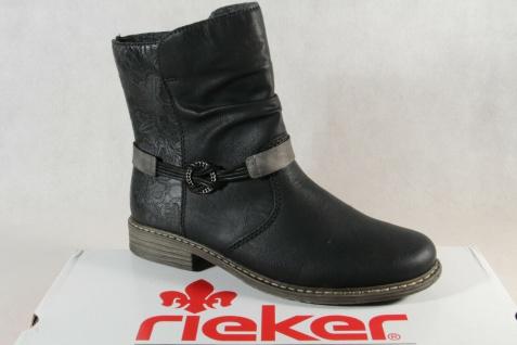 Rieker Damen Stiefel Stiefelette Stiefelette schwarz Z21P0 NEU!