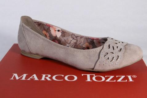 Marco Tozzi Ballerina Slipper Halbschuhe Pumps beige 42405 NEU!!