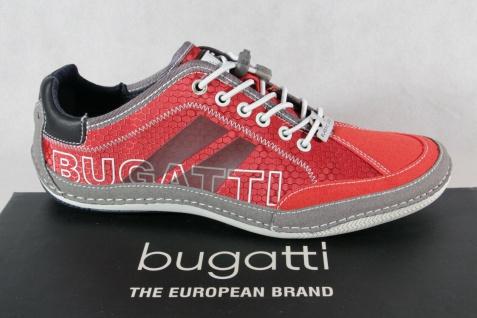 Bugatti Herren Sneakers Schnürschuhe Halbschuhe Slipper rot 48009 NEU!