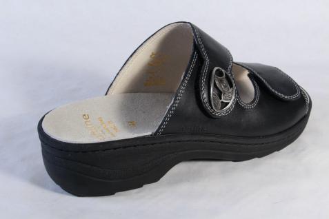 Fidelio Damen Leder Pantolette Pantoletten schwarz Leder Damen Lederfußbett 23411 NEU! 114449