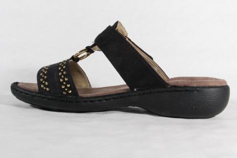 Jenny Pantolette Klettverschluß Pantoletten 57247 schwarz, Klettverschluß Pantolette NEU! Beliebte Schuhe 42287f
