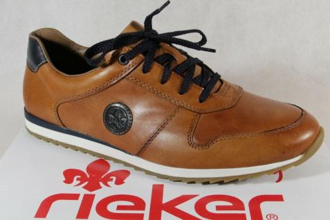 Rieker Herren Sneakers Sneaker Halbschuhe Schnürschuhe 19313 braun Leder NEU!!