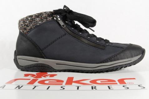 Rieker Schnürschuhe, L5223 Damen Stiefel Stiefelette Schnürschuhe, Rieker Sneaker blau NEU! 530e99