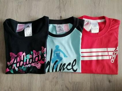 Adidas T-Shirts Set Mädchen schwarz hellblau rot Shirt Kinder Sport Neu!