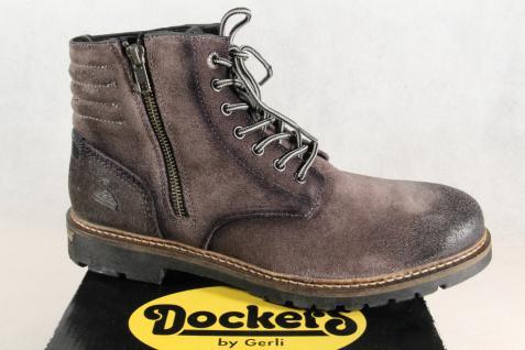 Dockers Stiefel Schnürstiefel Stiefeletten Leder Stiefel Winterstiefel grau Leder Stiefeletten NEU 210961