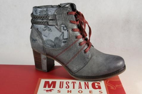 Mustang Stiefel Stiefeletten Schnürstiefel Boots grau 1286 NEU!