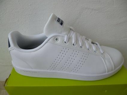 Adidas Schnürschuhe Sneakers Halbschuhe Sportschuhe ADVANTAGE weiß NEU!
