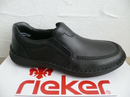 Rieker Slipper Sneaker Sneakers Halbschuhe schwarz Leder 03064 NEU!!