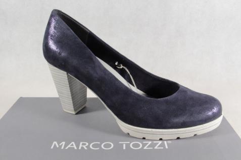 Marco Tozzi Pumps Ballerina Slipper blau weiche Innensohle Echtleder 22437 NEU!