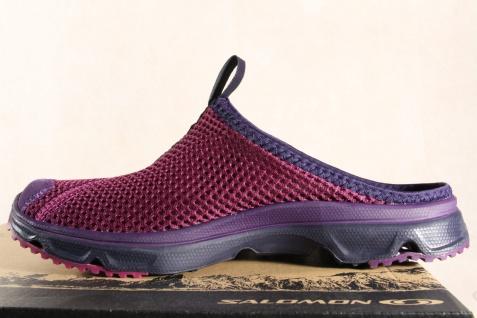 Salomon Clogs RX Slide, 39392449 violett, Lederinnenfußbett 39392449 Slide, NEU caf5b0