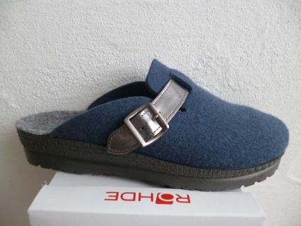 Rohde Damen Softfilz, Pantoffel Hausschuhe Softfilz, Damen blau, Filzfußbett NEU!! 3c1b32