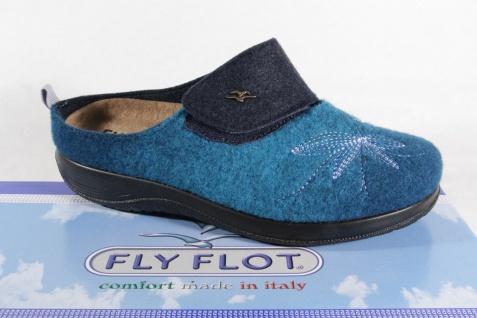 Fly Flot mit Pantoffel Pantoletten Hausschuhe türkis mit Flot KV 862004 Neu! c83cba