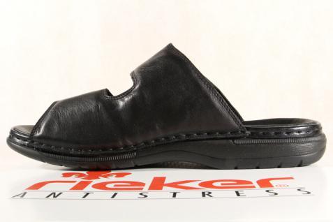 Rieker Pantoletten Pantolette Leder Clogs schwarz Leder Pantolette 25590 NEU! 6989b3