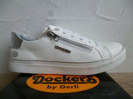 Dockers by Gerli Schnürschuhe Sneakers Halbschuhe weiß 44MA205 NEU!!