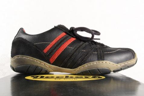 Dockers schwarz Herren Schnürschuhe Sneaker Echtleder schwarz Dockers / rot NEU! ec8006