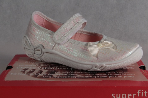 Superfit Mädchen Ballerina Halbschuh Sneaker weiß/rosé NEU!
