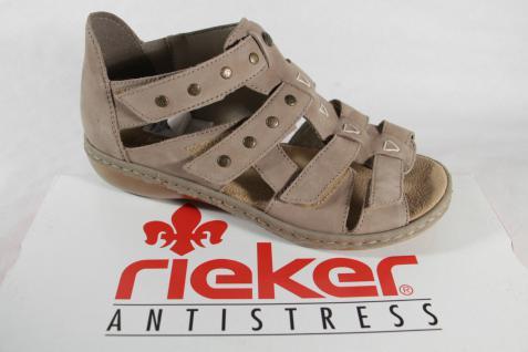 Rieker Damen Sandale, beige, Klettverschluß, NEU!! weiche Innensohle, NEU!! Klettverschluß, e7d299