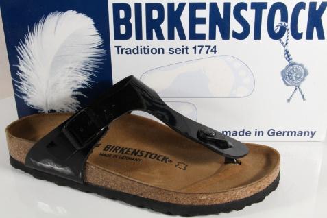 Birkenstock Zehenstegpantoletten Zehentrenner Pantoletten schwarz 043663 NEU