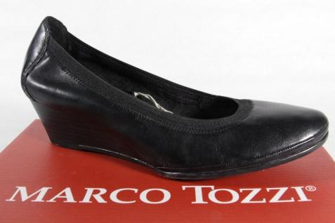 Marco Tozzi Slipper Ballerina Pumps schwarz Echtleder 22300 NEU!