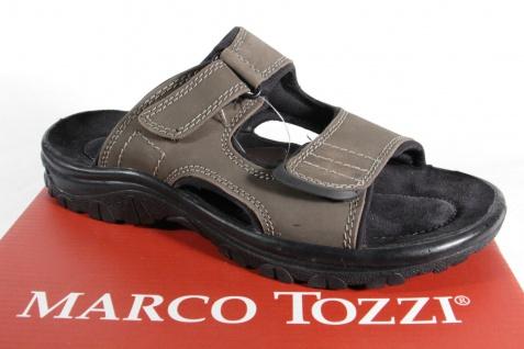 Marco Tozzi Herren Pantoletten Clogs Echtleder braun/grau 17200 NEU!